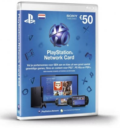 PlayStation Network Voucher Card 50EUR NL (PS4 / PS3 / PSP / PSN