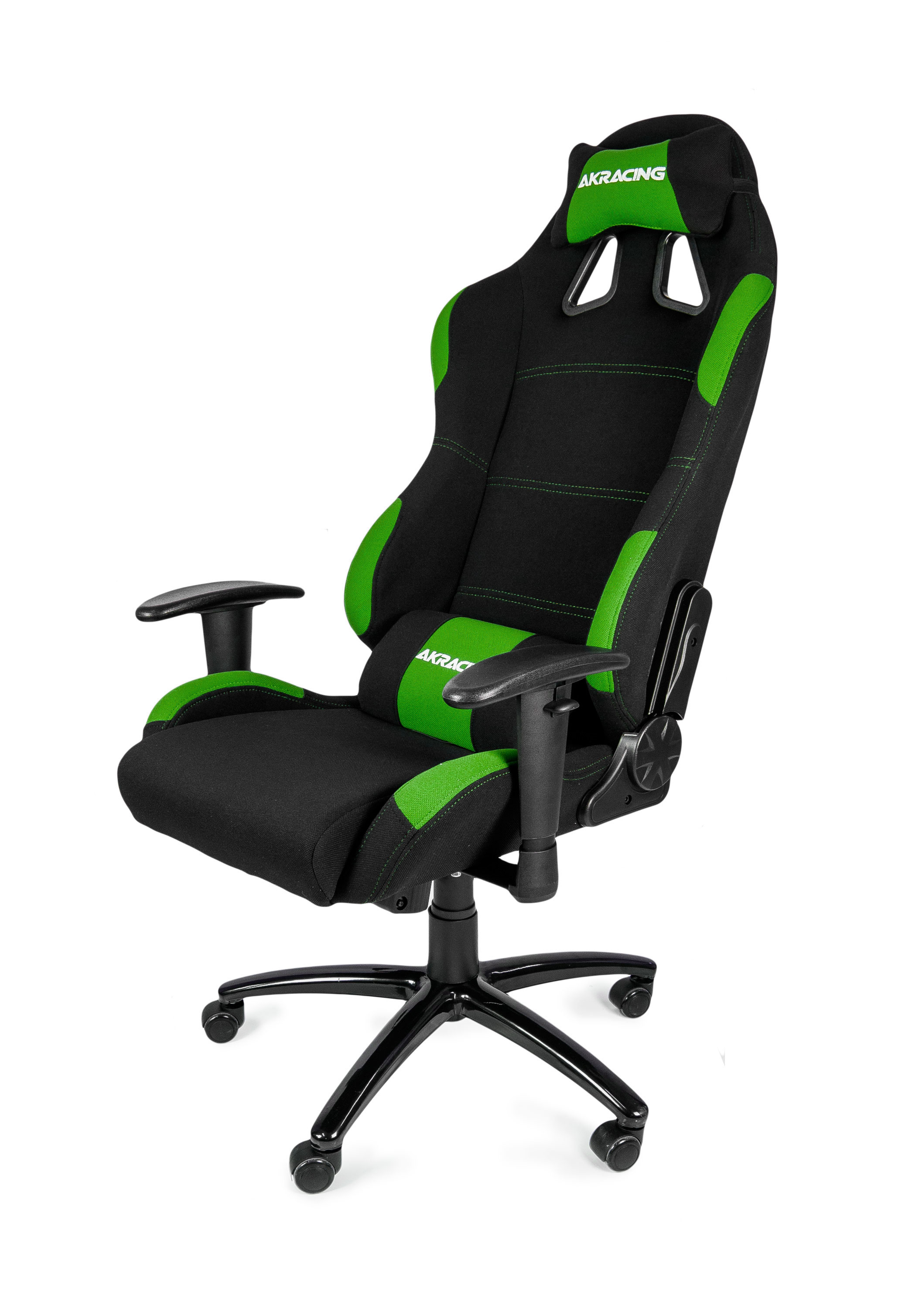 Akracing gaming chair black green ak k7012 bg for Silla razer gamer