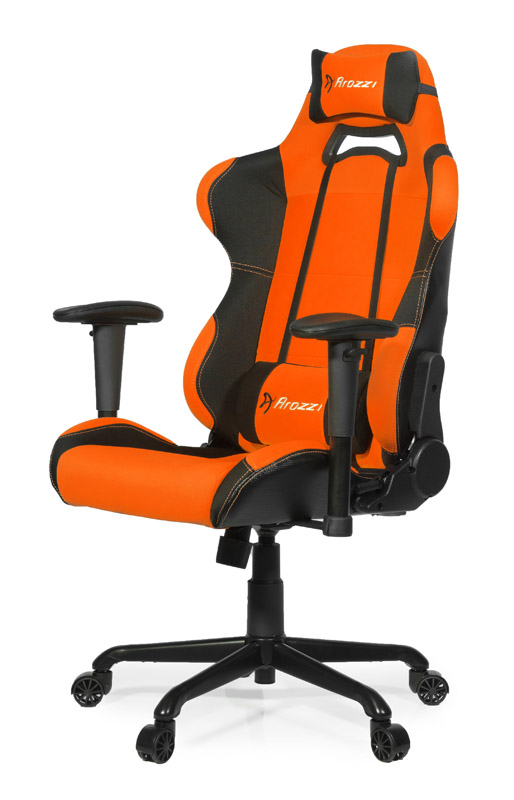Arozzi torretta gaming chair oranje for Sedia gaming quersus