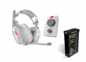 Astro A40 TR Audio System White + Mod Kit Green