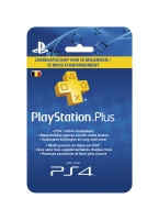 PlayStation Plus Card Hang - 1 jaar BE (PS4 / PS3 / PSP / PSN)
