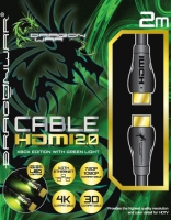 Dragon War HDMI 2.0 4K Lightning Cable (Green)
