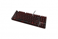 Ozone Strike Battle Black Mechanical Cherry Red - Qwerty (UK)