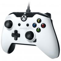 PDP Wired Controller (White) (Xbox One / PC)