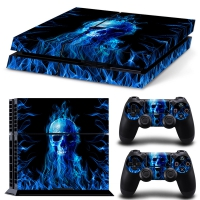 Playstation Console Skin - Fire Skull (PS4)