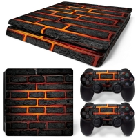 Playstation Console Skin - Lava Brick (PS4 Slim)
