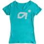 Astro Dot V-neck Tahiti Blue