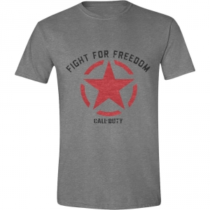 Call of Duty WWII - Fight for Freedom Men T-Shirt - Grey Melange