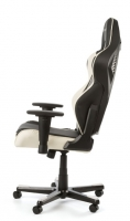 DXRacer WHITE LED Racing Shield Gaming Chair - OH/RL1/NW