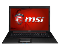 "MSI GP70 2PE (Leopard) - 258BE, 17.3"", I5-4210, 8GB, 750GB, 840M"