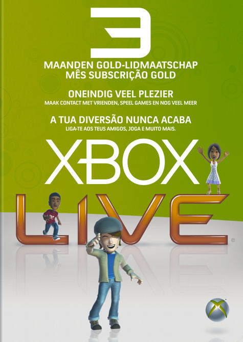 xbox live gold. Xbox LIVE Gold 3 months