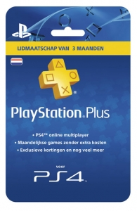 PlayStation Plus Card Hang - 3 maanden NL (PS3/PSP/PSN)