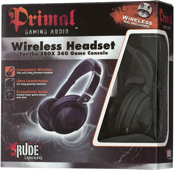 Rude Primal Wireless Headset (Xbox 360 Mic)