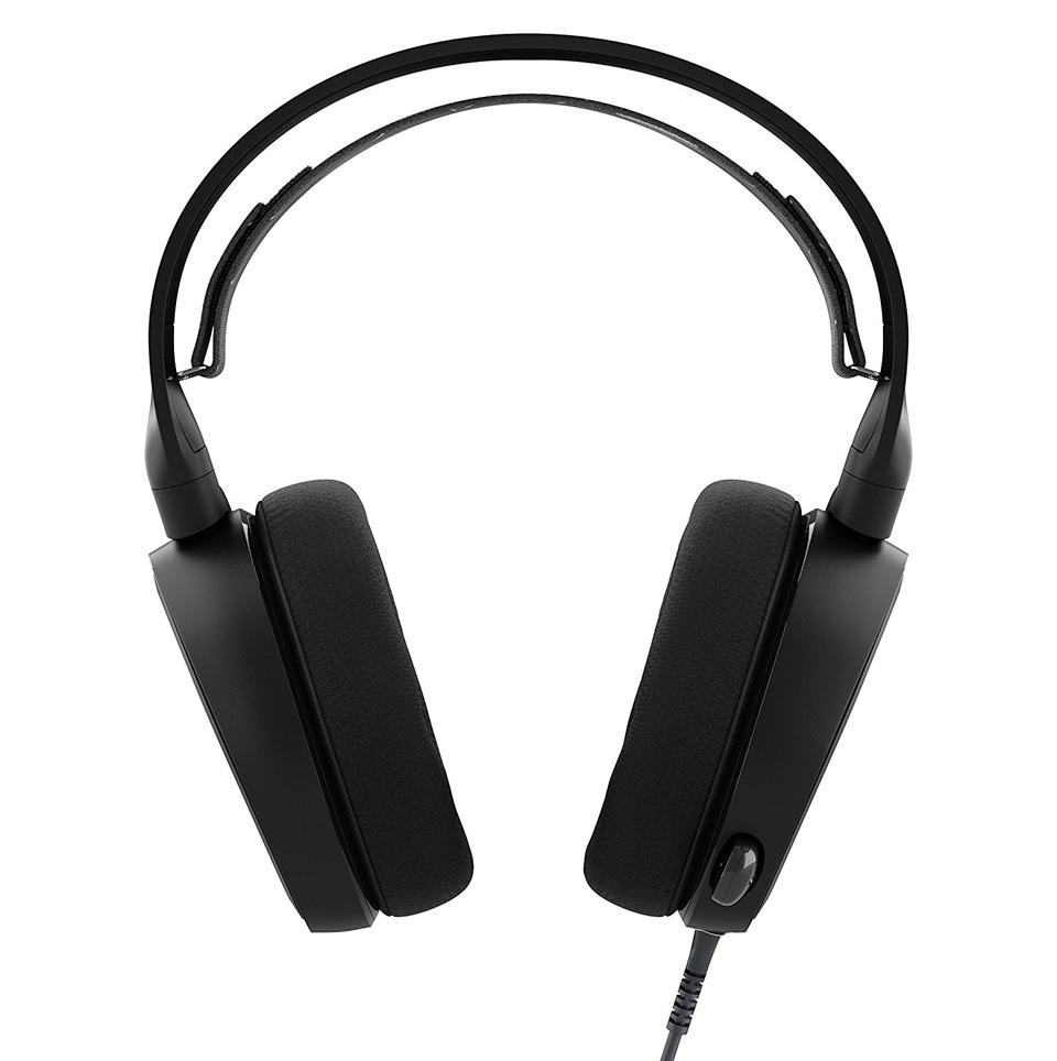 steelseries arctis 3 gaming headset black improve your game. Black Bedroom Furniture Sets. Home Design Ideas