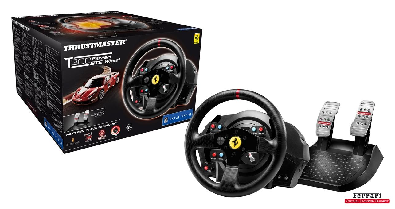thrustmaster t300 ferrari racing wheel ps4 ps3 pc. Black Bedroom Furniture Sets. Home Design Ideas