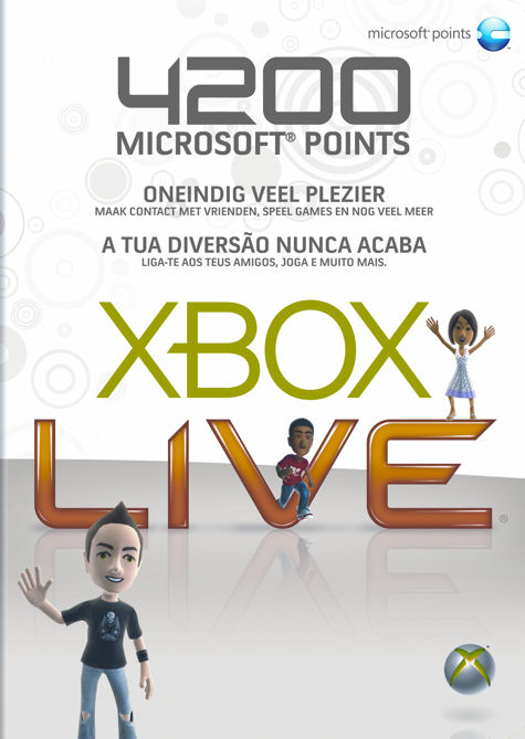 Xbox LIVE 4200 points PrePaid card