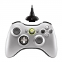 Xbox 360 Wireless Controller with Play & Charge Kit (Silver)