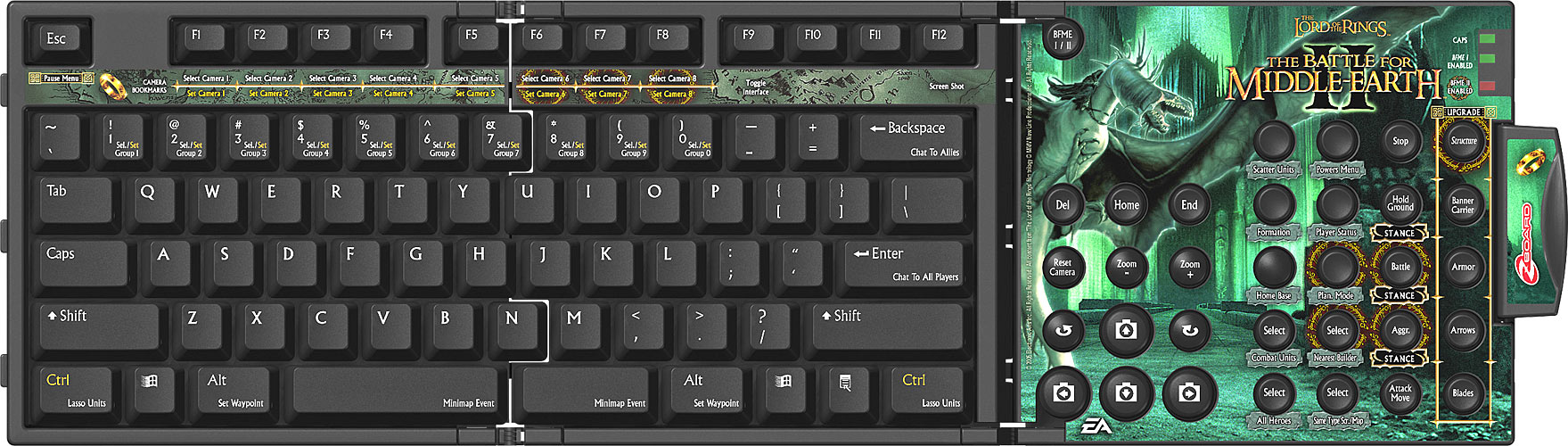 Zboard Keyset - Battle for Middle Earth II BE AZERTY (limited ed