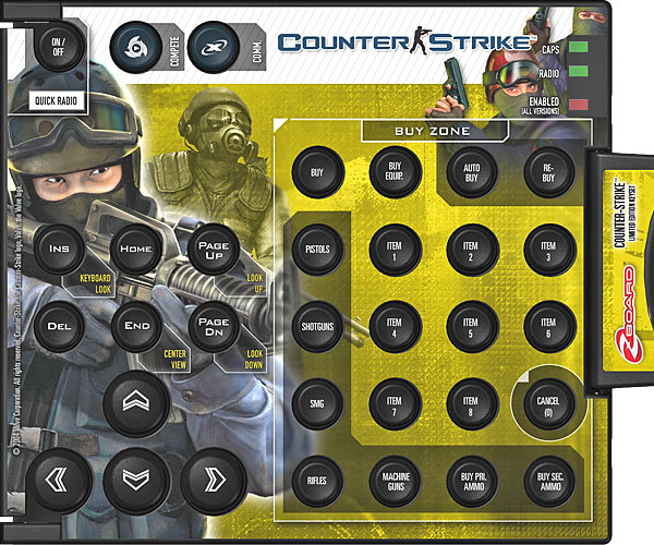 Zboard Keyset - Counter Strike AZERTY BE
