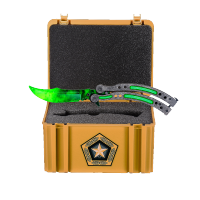 Cutss Emerald Stone Washed + Gamma Case (training knife)