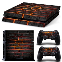 Playstation Console Skin - Lava Brick (PS4)