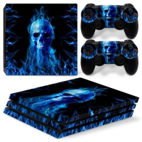 Playstation Console Skin - Fire Skull (PS4 Pro)