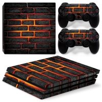 Playstation Console Skin - Lava Brick (PS4 Pro)