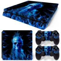 Playstation Console Skin - Fire Skull (PS4 Slim)