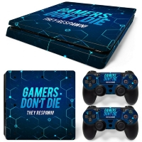 Playstation Console Skin - Gamers (PS4 Slim)