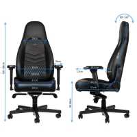 Noblechairs ICON Series – Black (Echt Leder)