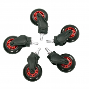 AKRACING Rollerblade Casters - Red