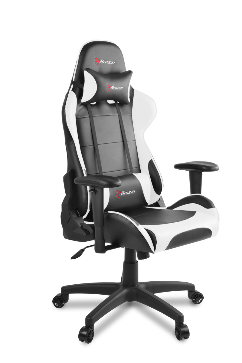 Awe Inspiring Arozzi Verona V2 Gaming Chair Black White Cjindustries Chair Design For Home Cjindustriesco