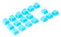 Tai-Hao Rubber Keycaps Blue (18 keys)