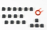 Tai-Hao Rubber Keycaps Black (18 keys)