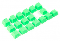 Tai-Hao Rubber Keycaps Green (18 keys)