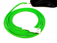 GG Modz Paracord Mouse cable + skates - Neon Green