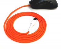 GG Modz Paracord Mouse cable + skates - Neon Orange