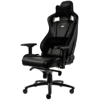 Noblechairs EPIC Series – Black (Real Leather)