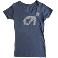 Astro Dot V-neck Indigo