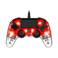 Nacon Wired Compact LED Controller (PS4/PC) (Red)