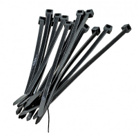 Techly Cable Tiewraps Black (100pcs)
