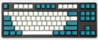 Tai-Hao ABS Midnight Green & White Keycap Set (ANSI) 104 layout