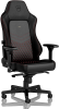 Noblechairs HERO Series - Black/Red (Real Leather)