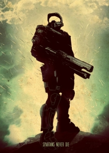 Displate - Master Spartan (Halo)