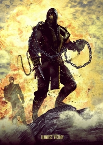 Displate - Scorpion (Mortal Kombat)