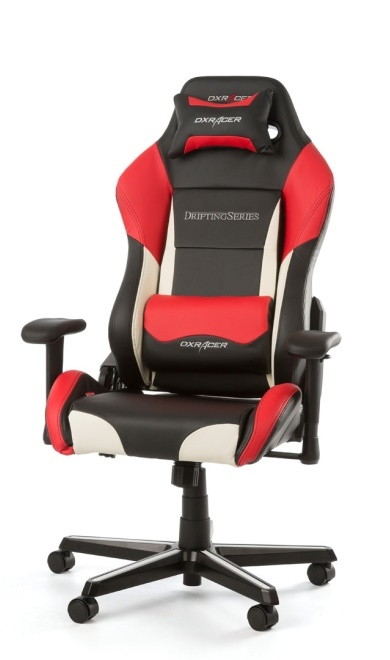 Pleasing Dxracer Drifting Gaming Chair Black White Red Oh Dm61 Nwr Machost Co Dining Chair Design Ideas Machostcouk