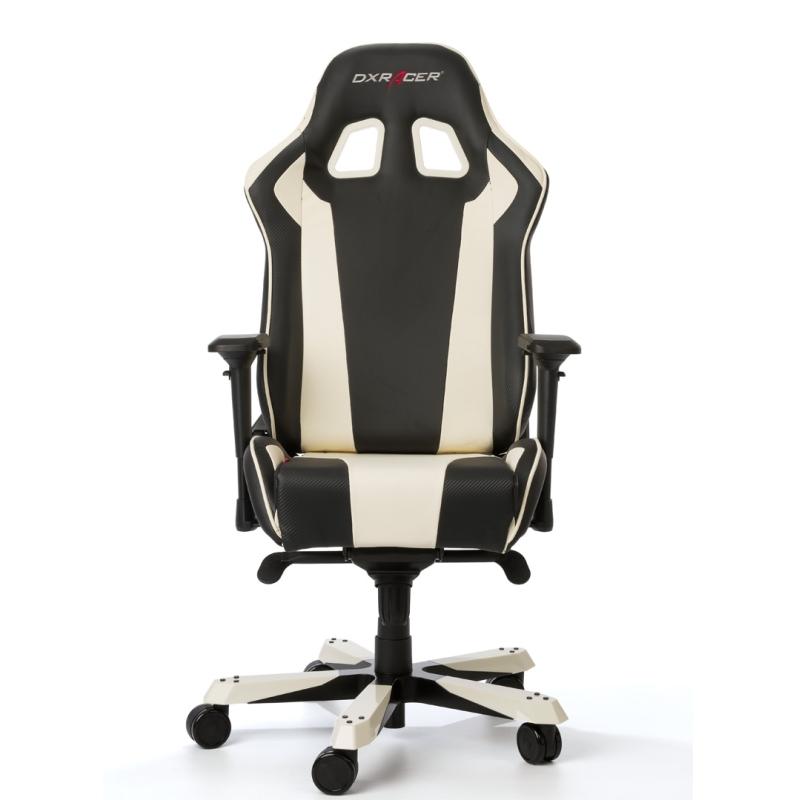 DXRacer KING Gaming Chair (White/Black) - OH/KS06/NW