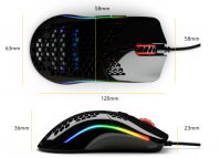 2de kans: Glorious Model O- NEW Mouse (small) - wit