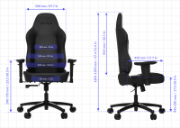 Vertagear PL1000 Gaming Chair (Black)