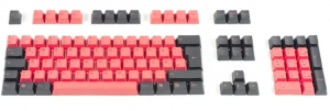 Tai-Hao Black & Red Keycap Set (ANSI) 104 layout